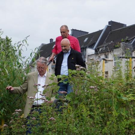 Auf diesem Bild sehen Sie CDU-Ratsvertreter eine Treppe hinabsteigen.
