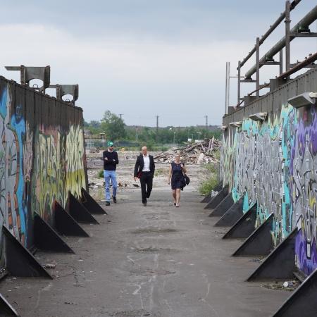 Auf diesem Bild sehen Sie Dr. Jendrik Suck, Christoph Thelen und Ute Mais.