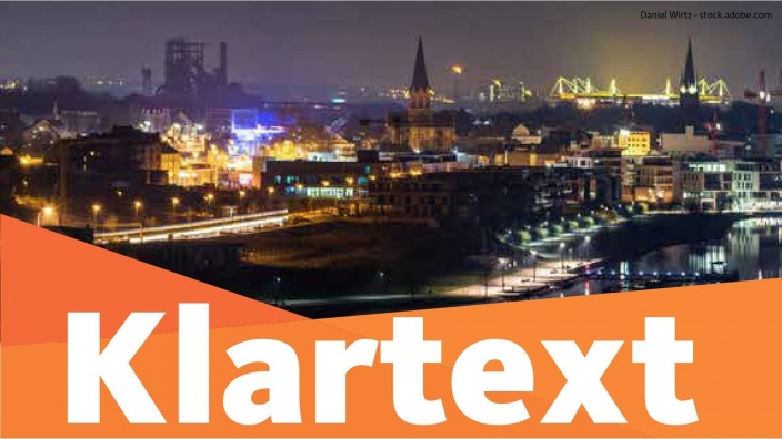 Auf diesem Bild sehen Sie das Titelbild der Zeitschrift Klartext.