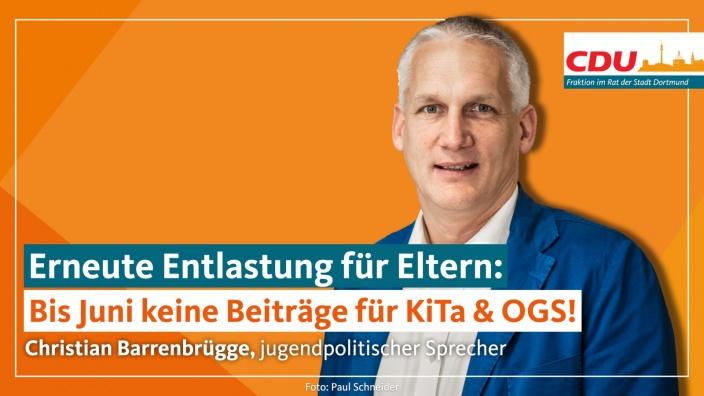 Auf diesem Bild sehen Sie den jugendpolitischen Sprecher Christian Barrenbrügge.