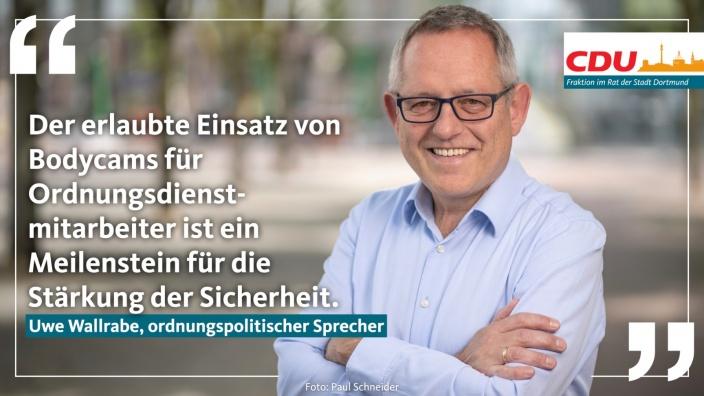 Auf diesem Bild sehen Sie das Ratsmitglied Uwe Wallrabe.