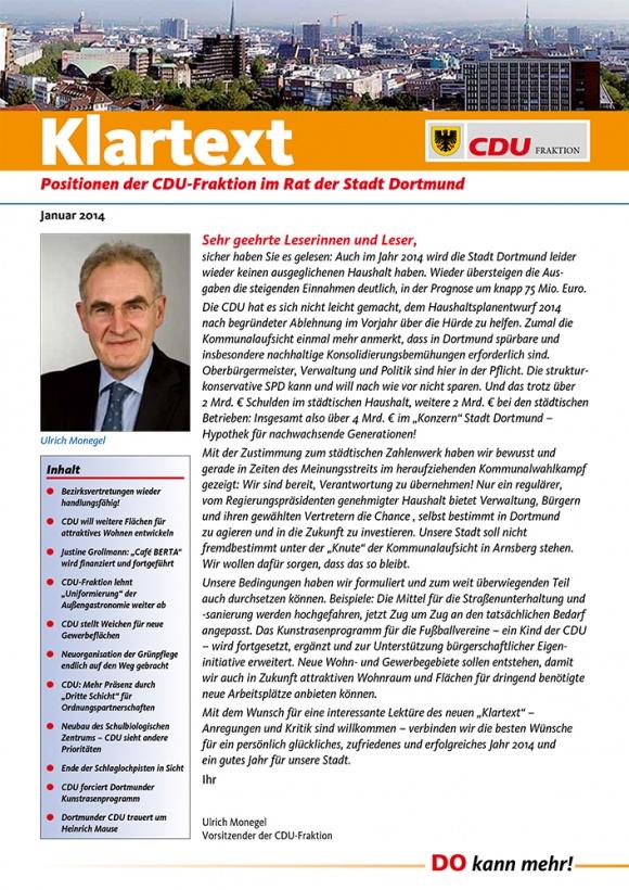 Klartext: Ausgabe Januar 2014